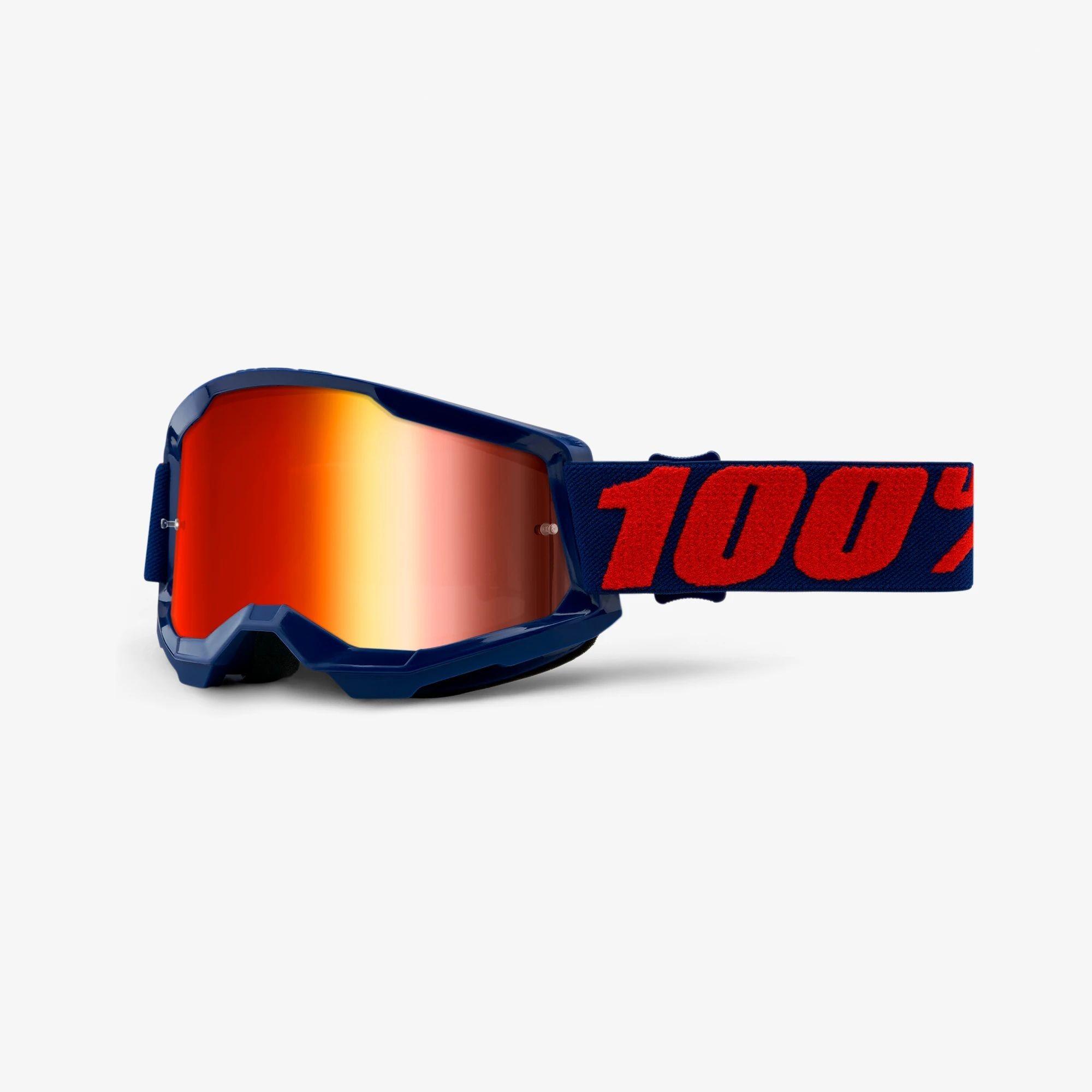 Óculos 100% Strata 2 Espelhado Masego Azul/Vermelho