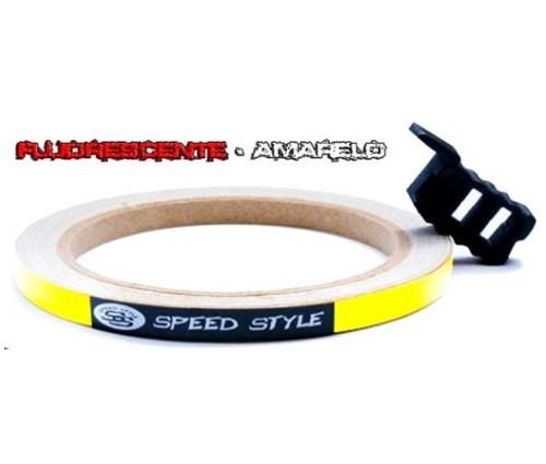 Adesivo Frisos De Roda Speed Style (Amarelo (Refletivo))