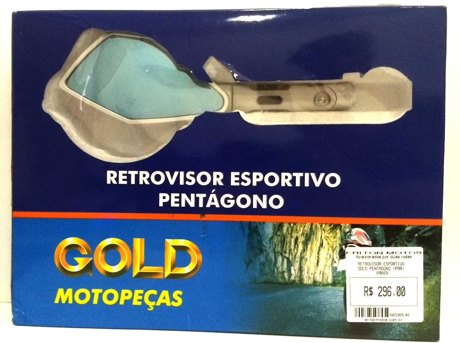 Retrovisor Esportivo Gold Pentagono (Par) Prata