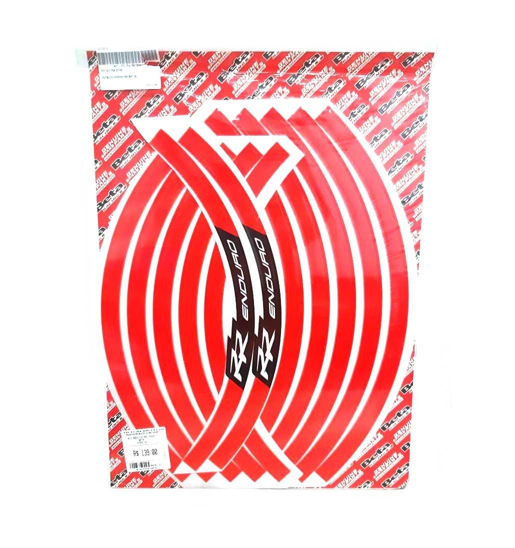 KIT Adesivo Aro Roda Beta Vermelho