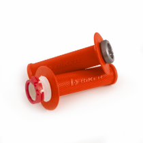 Manopla Lock-On KTM 2T 125-300 Sx/Exc/Xc/Xc-W 04/16 Husq 2T Tc/Te 125-300 14/16 Beta 13/19 Laranja Neon