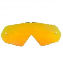 Lente Óculos Mattos Racing Combat Espelhado Vermelho/Dourado