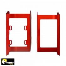 Protetor Radiador Start Racing Beta RR 250/300 2T - 4T 350/390/430/500 2020 Alumínio Vermelho
