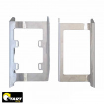 Protetor Radiador Start Racing Beta RR 250/300 2T - 4T 350/390/430/500 2020 Alumínio Polido