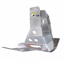 Protetor Motor E Escape Start Racing MXF 250 TS 2021 Alumínio Polido