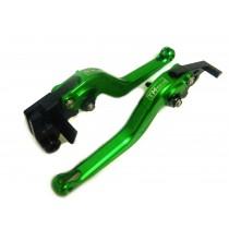 Manete Articulado TM Tech (Par) Aplicável Ninja 250/300 Z-300 Verde/Preto